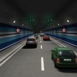 Interiér tunelu Malešice (© 2010 Mott MacDonald & CTECH)
