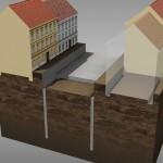 2. fáze výstavby – výstavba stropu v mělké stavební jámě (© 2010 SATRA & ARTOO)