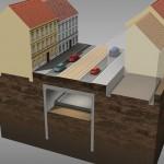 5. fáze výstavby – odtěžování a realizace první úrovně tunelu (© 2010 SATRA & ARTOO)