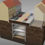 6. fáze výstavby - odtěžování a realizace druhé úrovně tunelu (© 2010 SATRA & ARTOO)