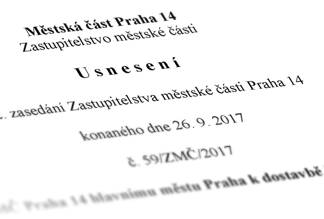 Usnesení ZMČ Praha 14